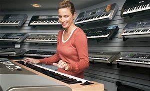 playing piano and keyboard